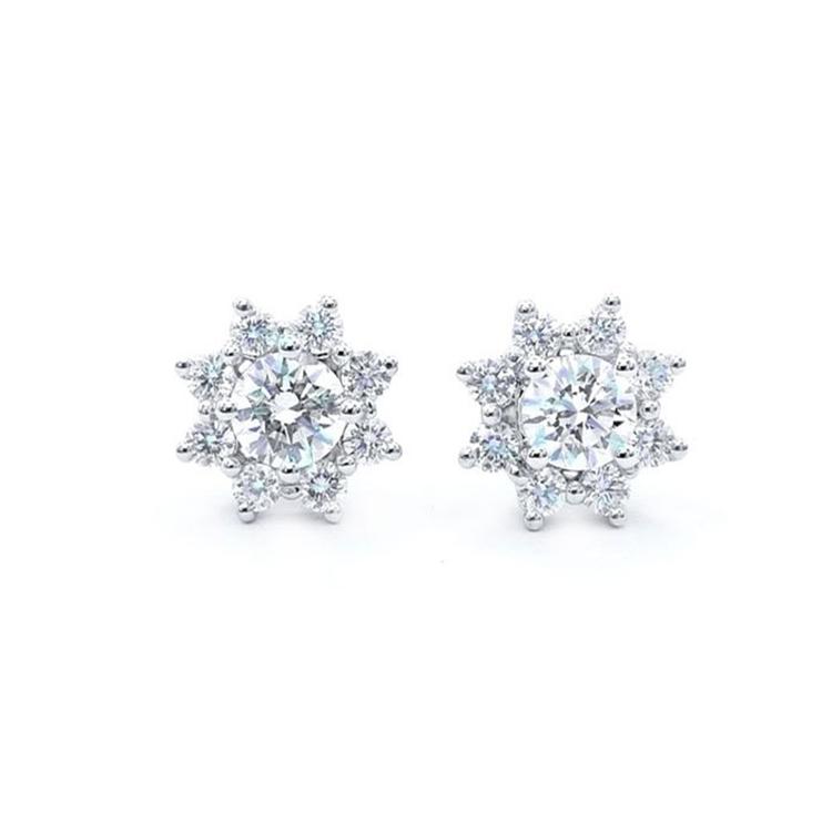 Pendientes Diamantes Oro Blanco STAR PR 4