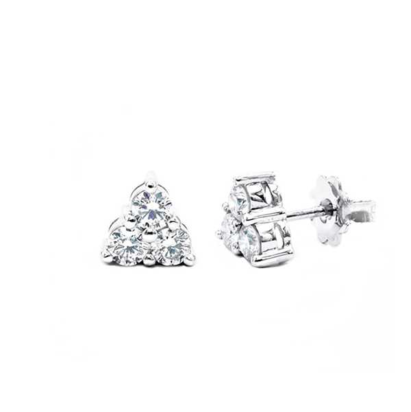 """Pendientes con 3 Diamantes en garra """"Triangle"""" - PG 34"""