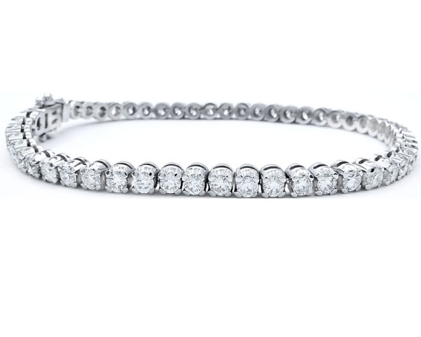 """Pulsera """"MIDORI"""" 4.36 cts. oro blanco y diamantes"""