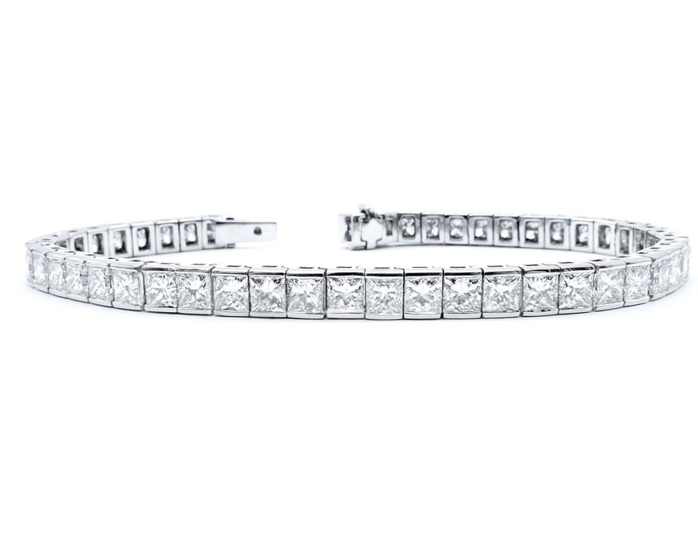 Pulsera Riviere Diamantes Princess - RI 16