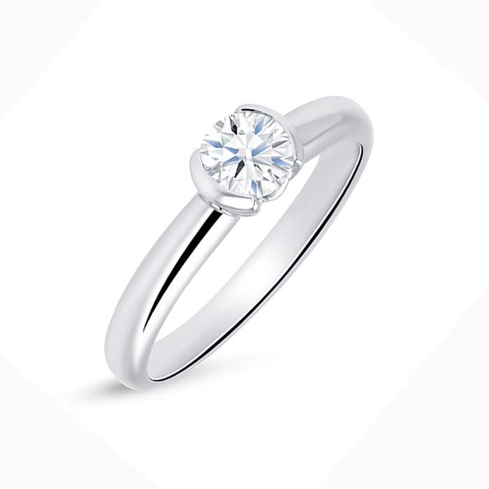 """Solitario """"Antic S"""" Oro Blanco 18k y diamante"""