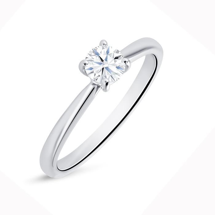 """Solitario """"Harmony S"""" Oro Blanco 18k y Diamante"""