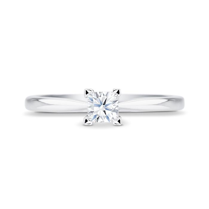 "Solitario ""Surya S"" con diamante central talla princesa"
