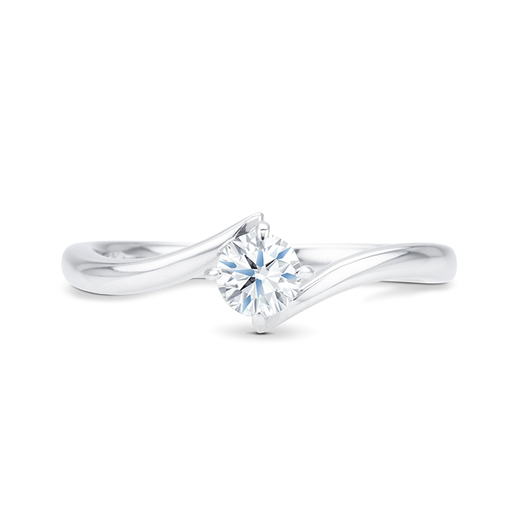 Solitario oro blanco diamante - LESATH - SR 59