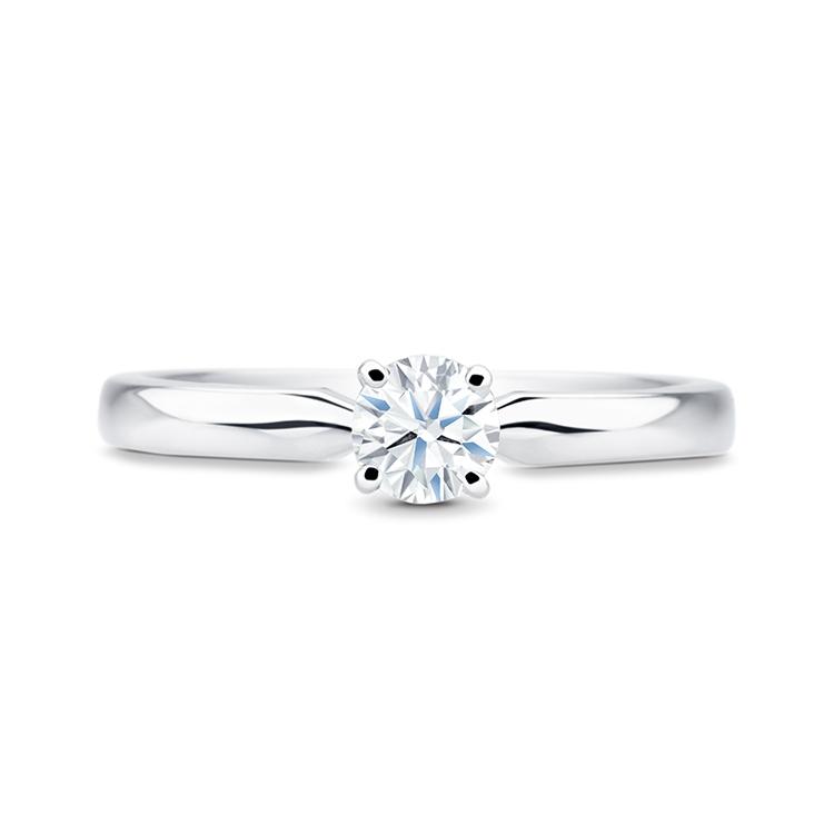 Anillo Solitario de Platino con Diamante Colección Pedida de Mano