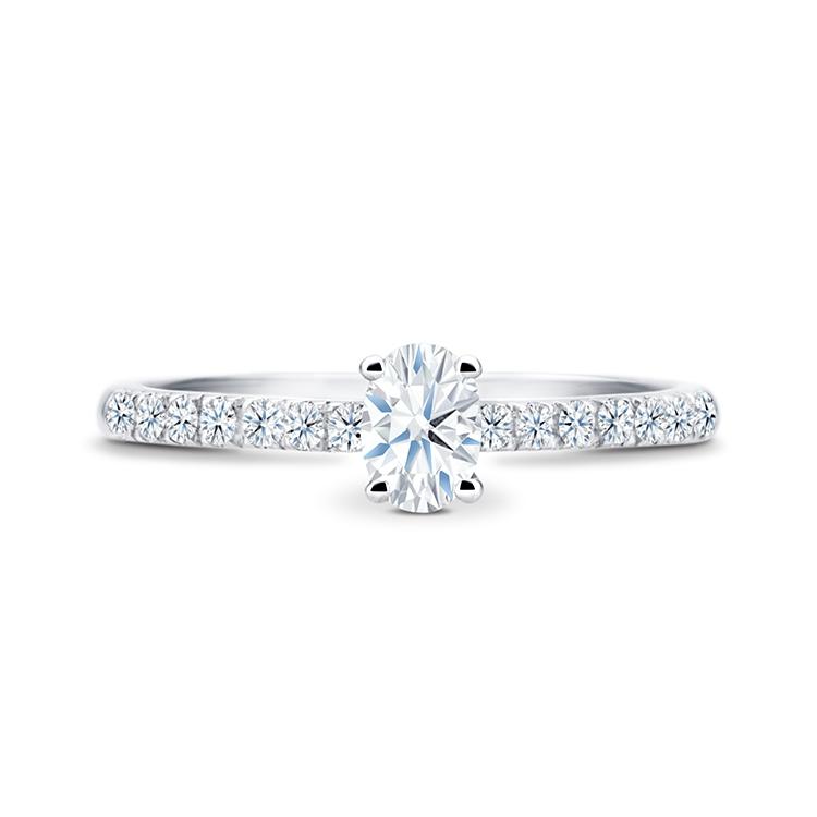 """Anillo Compromiso diamante """"Cairo"""" talla oval 0.30 cts"""