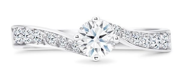 anillos de compromiso oro blanco