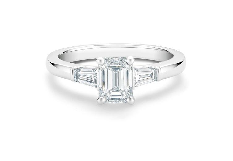anillos de diamantes clásicos
