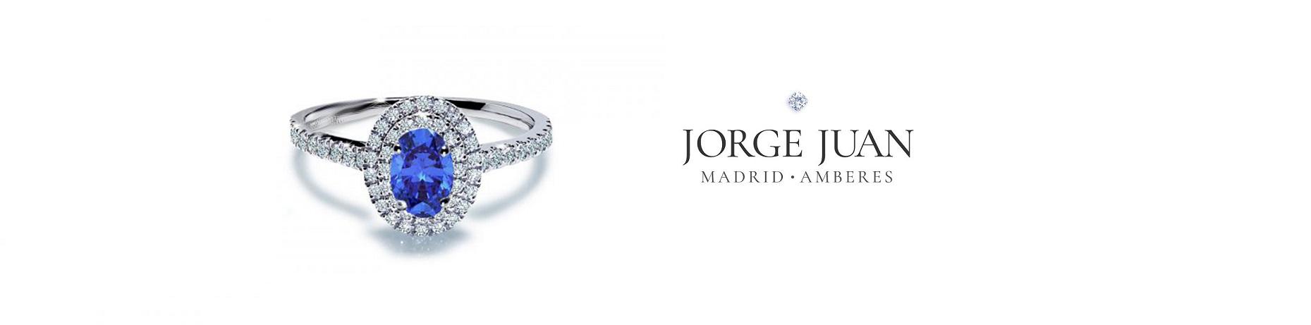 anillos de compromiso de zafiro azul en oro y diamantes