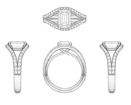 Diseños anillos de pedida