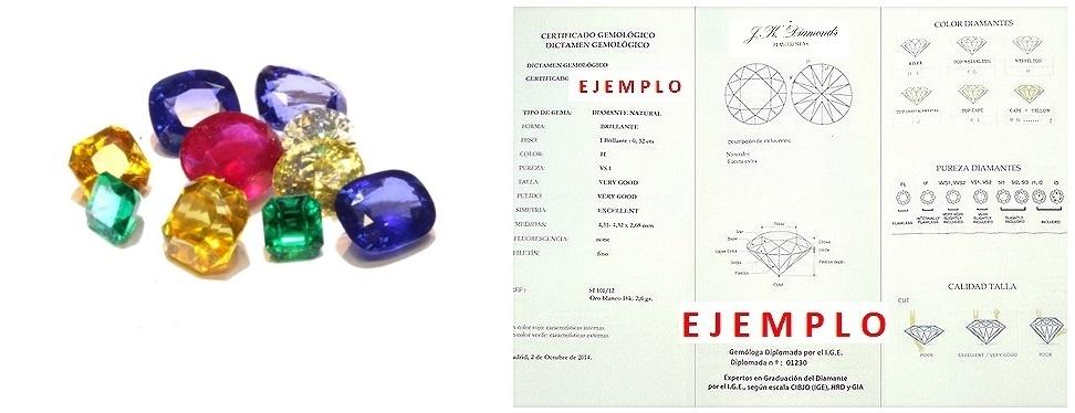 certificado de piedras preciosas